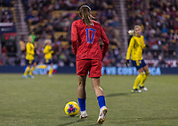 COLUMBUS, OH - NOVEMBER 07: Tobin Heath #17 of the United States dribbles during a game between Sweden and USWNT at Mapfre Stadium on November 07, 2019 in Columbus, Ohio.