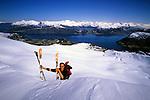 Dimitri Fagart summiting Snohornet, Sunnmorsalpane, Norway, 2006
