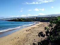 Hapuna Beach State Park in the early summer morning. Big Island, Hawaii