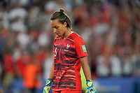 PARIS, FRANCE - JUNE 28: Sarah Bouhaddi #16 during a 2019 FIFA Women's World Cup France quarter-final match between France and the United States at Parc des Princes on June 28, 2019 in Paris, France.