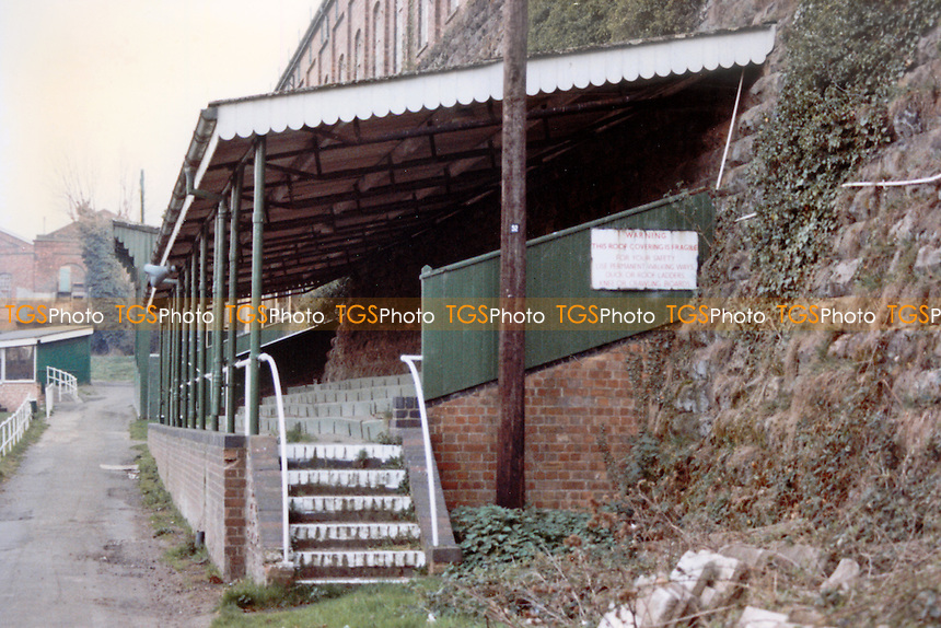 Wolverton Park, home of Wolverton Town Football Club (Buckinghamshire), pictured circa 1990 - Gavin Ellis/TGSPHOTO - Self billing applies where appropriate - 0845 094 6026 - contact@tgsphoto.co.uk - NO UNPAID USE..