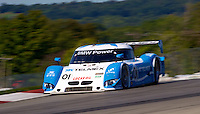 The #01 BMW Riley of Scott Pruett and Memo Rojas is shown in action during the Grand-Am Rolex Series race, Mid-Ohio Sports Car Course, Lexington, Ohio, September 2011.  (Photo by Brian Cleary/www.bcpix.com)
