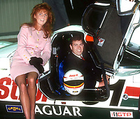 Prince Andrew and Sarah visit the Jaguar<br /> factory 1990 Photo by Adam Scull-PHOTOlink.net