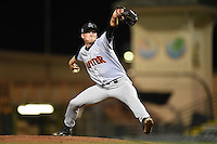 Jupiter Hammerheads pitcher Matt Milroy (19) delivers a pitch during a game against the Bradenton Marauders on April 17, 2015 at McKechnie Field in Bradenton, Florida.  Bradenton defeated Jupiter 11-6.  (Mike Janes/Four Seam Images)