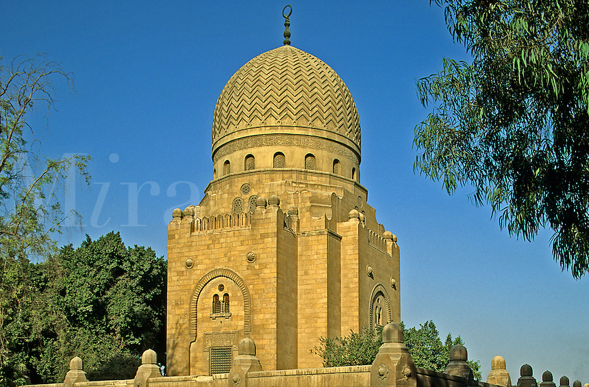 One of the Khalif's Tombs. Egypt. Cairo.  Qaitbai.
