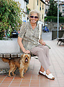 """SAGRA DEL """"PESCE E PATATE"""" 2011, BARGA, ITALY<br /> <br /> HILDA PIERI (80) WHO HAS NOW RETURNED TO BARGA AFTER LIVING IN SCOTLAND."""