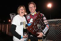 Lakeside Hammers rider of the season Peter Karlsson - Lee Richardson Memorial Speedway Meeting at Arena Essex Raceway, Purfleet - 28/09/12 - MANDATORY CREDIT: Gavin Ellis/TGSPHOTO - Self billing applies where appropriate - 0845 094 6026 - contact@tgsphoto.co.uk - NO UNPAID USE.