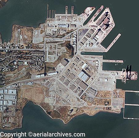 aerial photograph Hunters Point San Francisco, California