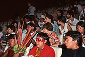 United Nations Conference on Environment and Development, Rio de Janeiro, Brazil, 3rd to 14th June 1992.Yanomami delegates; Davi Yanomami centre at the Earth Parliament.