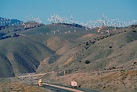 Wind Turbines in the Tehachapi Valley along Highway 58, California, USA
