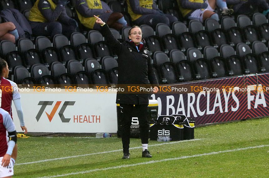 Gemma Davies manager of Aston Villa giving instructions during Tottenham Hotspur Women vs Aston Villa Women, Barclays FA Women's Super League Football at the Hive Stadium on 13th December 2020