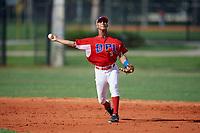 Elizual Chalas (3) during the Dominican Prospect League Elite Florida Event at Pompano Beach Baseball Park on October 14, 2019 in Pompano beach, Florida.  Elizual Chalas (3).  (Mike Janes/Four Seam Images)