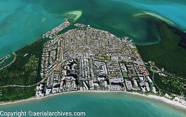 aerial phototograph of Key Biscayne; Miami-Dade County; Florida