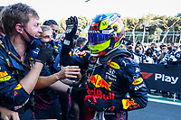 PEREZ Sergio (mex), Red Bull Racing Honda RB16B, celebrates his win during the Formula 1 Azerbaijan Grand Prix 2021 from June 04 to 06, 2021 on the Baku City Circuit, in Baku, Azerbaijan -<br /> FORMULA 1 : Grand Prix Azerbaijan <br /> 06/06/2021 <br /> Photo DPPI/Panoramic/Insidefoto <br /> ITALY ONLY