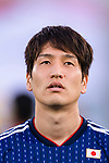 Haraguchi Genki of Japan is seen prior to the AFC Asian Cup UAE 2019 Group F match between Oman (OMA) and Japan (JPN) at Zayed Sports City Stadium on 13 January 2019 in Abu Dhabi, United Arab Emirates. Photo by Marcio Rodrigo Machado / Power Sport Images