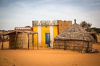 Mosque in village at Marigot One near St Louis, Senegal