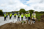 Sod Turning: Minister Norma Foley turning the sod at the site of the new Food Hub in Cliveragh Industrial Park, Listowel opn Monday afternoon.