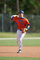 Marcelo Mayer (10) during the WWBA World Championship at the Roger Dean Complex on October 13, 2019 in Jupiter, Florida.  Marcelo Mayer attends Eastlake High School in Chula Vista, CA and is committed to Southern California.  (Mike Janes/Four Seam Images)