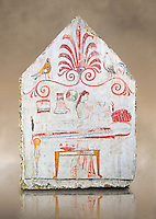 Lucanian fresco tomb painting of the deceased on her death bed ( porthesis). Paestrum, Andriuolo. Tomb 86 ( 330-320 BC )