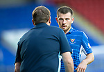St Johnstone v Brechin….24.07.19      McDiarmid Park     Betfred Cup       <br />Matty Kennedy gets instructions from manager Tommy Wright<br />Picture by Graeme Hart. <br />Copyright Perthshire Picture Agency<br />Tel: 01738 623350  Mobile: 07990 594431