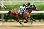 June 4, 2021: Overbore #3, ridden by Joel Rosario, wins the Tremont Stakes during Friday racing at the Belmont Stakes Festival at Belmont Park in Elmont, New York. Scott Serio/Eclipse Sportswire/CSM