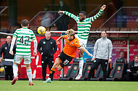 22nd August 2020; Tannadice Park, Dundee, Scotland; Scottish Premiership Football, Dundee United versus Celtic; Kieran Freeman of Dundee United challenges for the ball with Olivier Ntcham of Celtic