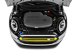 Car Stock 2020 MINI MINI-Electric Cooper-SE-L 2 Door Hatchback Engine  high angle detail view