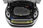 Car Stock 2020 MINI MINI-Electric Cooper-SE-L 2 Door Hatchback Engine  high angle detail view