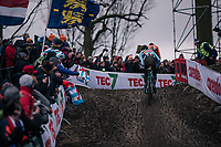 Michael Vanthourenhout (BEL/Marlux-Bingoal) chasing Mathieu van der Poel (NED/Corendon-Circus)<br /> <br /> Elite Men's Race<br /> UCI CX Worlds 2018<br /> Valkenburg - The Netherlands