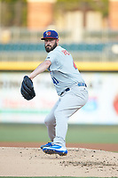 Buffalo Bison starting pitcher Mike Hauschild (41) in action against the Charlotte Knights at BB&T BallPark on August 14, 2018 in Charlotte, North Carolina. The Bison defeated the Knights 14-5.  (Brian Westerholt/Four Seam Images)