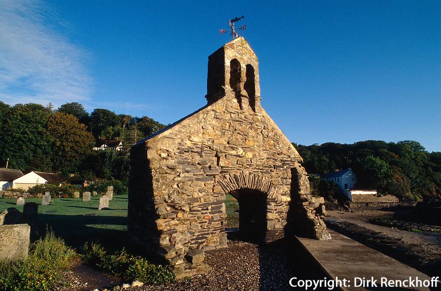Großbritannien, Wales, bei Fishguard, keltische Kirche Lym-Yr-Eglwys.Church  Lym-Yr-Eglwys near Fishguard