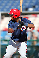 Washington Nationals first baseman Arialdi Peguero #15 during an Instructional League game against the national team from Italy at Holman Stadium on September 29, 2011 in Vero Beach, Florida.  (Mike Janes/Four Seam Images)