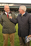 17 October 2009: Mike Battaglia interviews trainer Philip Sims after his charge, Hot Cha Cha won the G1Queen Elizabeth Stakes at Keeneland Race Course in Lexington, Kentucky.
