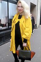 Camille Seydoux (enceinte) - ARRIVEES AU DEFILIE 'ALEXIS MABILLE' A LA FASHION WEEK DE PARIS