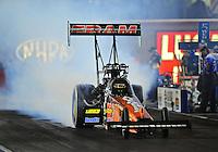Oct. 31, 2008; Las Vegas, NV, USA: NHRA top fuel dragster driver Cory McClenathan during qualifying for the Las Vegas Nationals at The Strip in Las Vegas. Mandatory Credit: Mark J. Rebilas-