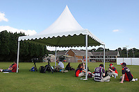 The media facilities for the football training sessions at Cardiff University, Cardiff, Wales - 27/07/12 - MANDATORY CREDIT: Gavin Ellis/SHEKICKS/TGSPHOTO - Self billing applies where appropriate - 0845 094 6026 - contact@tgsphoto.co.uk - NO UNPAID USE.