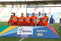 MANIZALES - COLOMBIA, 16-01-2021:Jugadores de Envigado F.C. posan para una foto previo al partido entre Millonarios  y Envigado F.C. por la fecha 1 de la Liga BetPlay DIMAYOR 2021 jugado en el estadio Palogrande de la ciudad de Manizales. / Players of Envigado F.C. pose to a photo prior match for the date 1 as part of BetPlay DIMAYOR League 2021 between Millonarios and Envigado F.C. played at Palogrande stadium in Manizales city.  Photo: VizzorImage / John Jairo Bonilla / Contribuidor