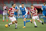 Hamilton Accies v St Johnstone…09.12.17…  New Douglas Park…  SPFL<br />Michael O'Halloran gets between Dougie Imrie and Greg Docherty<br />Picture by Graeme Hart. <br />Copyright Perthshire Picture Agency<br />Tel: 01738 623350  Mobile: 07990 594431