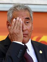 Wolfsburg , 270611 , FIFA / Frauen Weltmeisterschaft 2011 / Womens Worldcup 2011 , Gruppe B  ,  ..England - Mexico ..Trainer Leonardo Cuellar (Mexico) ..Foto:Karina Hessland ..