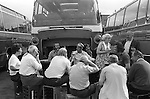 Annual works party factory day out to the seaside  Southend on Sea. Essex England 1974