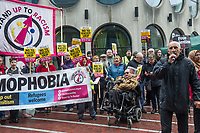 A protest outside the UKIP conference in Birmingham organised by Stand Up To Racsim 22-9-18