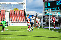 10th October 2020; Sixfields Stadium, Northampton, East Midlands, England; English Football League One, Northampton Town versus Peterborough United; Nathan Thompson gives Peterborough the lead in minute 33