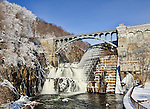 The Croton Dam viewed on a cold day in winter