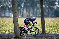 Eddy le Huitouze (FRA)<br /> <br /> Junior Men Individual Time Trial from Knokke-Heist to Bruges (22.3 km)<br /> <br /> UCI Road World Championships - Flanders Belgium 2021<br /> <br /> ©kramon