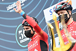 Mikel Landa (ESP) Bahrain Victorious at sign on before the start of Stage 4 of Tirreno-Adriatico Eolo 2021, running 148km from Terni to Prati di Tivo, Italy. 13th March 2021. <br /> Photo: LaPresse/Gian Mattia D'Alberto   Cyclefile<br /> <br /> All photos usage must carry mandatory copyright credit (© Cyclefile   LaPresse/Gian Mattia D'Alberto)