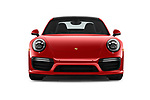 Car photography straight front view of a 2019 Porsche 911 Turbo-Coupe 2 Door Coupe Front View