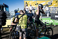 Jack Bauer (NZL/Michelton-Scott) at the finish up Mont Aigoual<br /> <br /> Stage 6 from Le Teil to Mont Aigoual (191km)<br /> <br /> 107th Tour de France 2020 (2.UWT)<br /> (the 'postponed edition' held in september)<br /> <br /> ©kramon