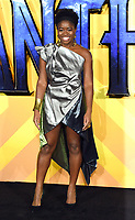 """Clara Amfo<br /> arriving for the """"Black Panther"""" premiere at the Hammersmith Apollo, London<br /> <br /> <br /> ©Ash Knotek  D3376  08/02/2018"""