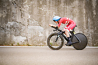 Emma Cecilie Norsgaard (DEN)<br /> <br /> Women Elite Time trial from Imola to Imola (31.7km)<br /> <br /> 87th UCI Road World Championships 2020 - ITT (WC)<br /> <br /> ©kramon