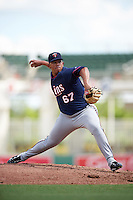 Minnesota Twins pitcher Fernando Romero (67) during an Instructional League game against the Boston Red Sox on September 23, 2016 at JetBlue Park at Fenway South in Fort Myers, Florida.  (Mike Janes/Four Seam Images)